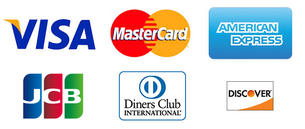 VISA / MasterCard / AMERICAN EXPRESS / JCB / Diners Club / Discover